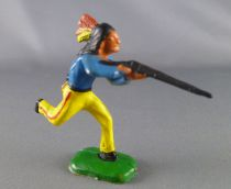 Clairet - Wild West - Indians 3rd series - Footed Firing rifle running