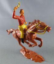 Cofalu - 54m - Western - Cow-Boy - Mounted brandishing gun brown horse