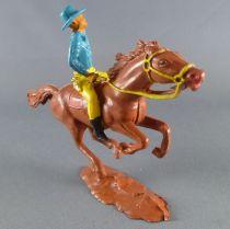 Cofalu - 54m - Western - Cow-Boy - Mounted firing gun blue shirt