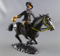 Cofalu - 54m - Western - Cow-Boy - Mounted masked black rider (Zorro) with bank bag