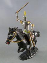 Cofalu - 54mm - Moyen-Age - Cavalier brandissant épée Cheval noir