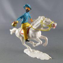Cofalu - 54mm - Western - Cow-Boy Cavalier masqué avec sac de banque chemise bleu