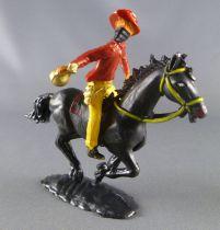 Cofalu - 54mm - Western - Cow-Boy Cavalier masqué avec sac de banque chemise rouge