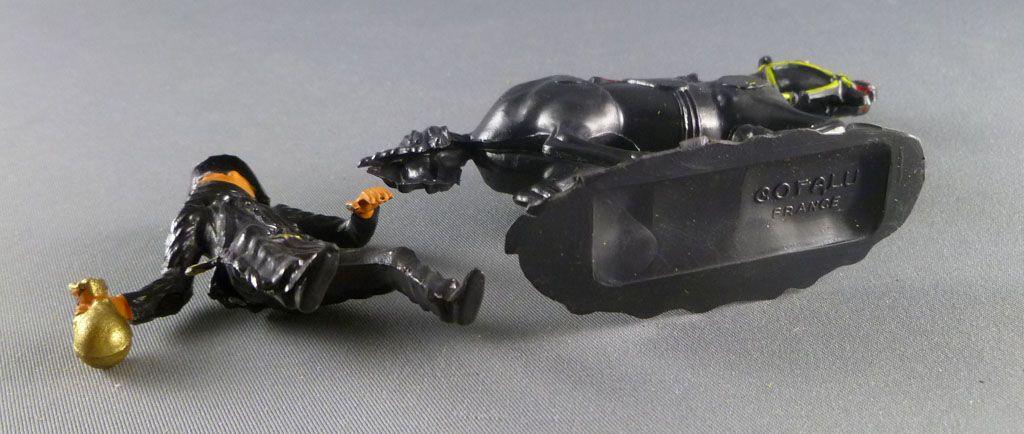 Cofalu - 54mm - Western - Cow-Boy Cavalier noir masqué (Zorro) avec sac de banque