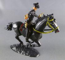 Cofalu - 54mm - Western - Cow-Boy Cavalier noir masqué (Zorro) tireur 2 révolvers
