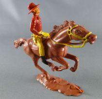 Cofalu - 54mm - Western - Cow-Boy Cavalier tireur révolver chemise rouge