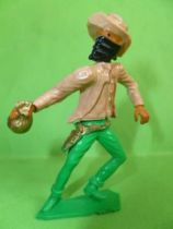 Cofalu - 54mm - Western - Cow-Boy Pieton masqu� avec sac de banque
