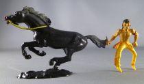Cofalu - 54mm - Western - Indien Cavalier avec couteau cheval noir