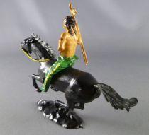 Cofalu - 54mm - Western - Indien Cavalier lance main droite cheval noir