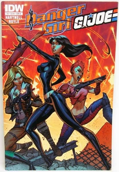 Comic Book - IDW - G.I.JOE & Danger Girl #4