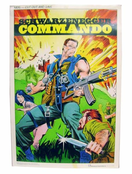 Commando John Matrix (Arnold) Mint in box 16\'\' figure
