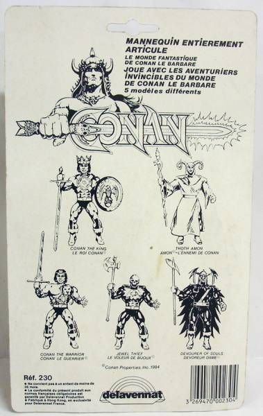Conan (Remco-Delavennat) - Devourer of Souls (mint on French card)
