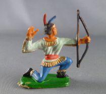 (copie) Clairet - Far West - Indiens 3ème série - Pièton tireur à l\'arc à genoux