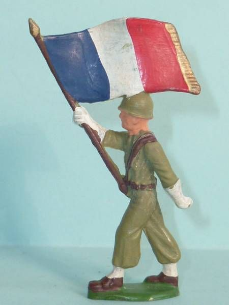 (copie) Starlux - French Infantry - Type 3 - Marching flag holder (réf 18)