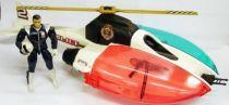 C.O.P.S. & Crooks - Air Raid Helicopter with Bullseye (loose)