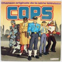 C.O.P.S. - Disque 45Tours - Bande Originale du feuilleton TV - Carrère 1988