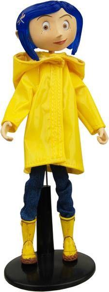 Coraline Raincoat & Boots - Bendy Doll - NECA