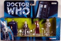 Corgi - Doctor Who figures set : Tardis, Davros, Dr. Who & Cyberman