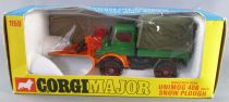 Corgi Toys Major 1150 Mercedes-Benz Unimog 406 with Snow Plough Mint in Box