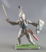 Crescent Toy - Middle-Age - Knight with sword & shield blue feather