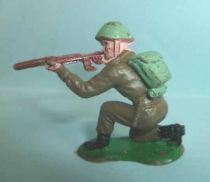 Crescent Toy - WW2 - Infanterie Anglaise tireur fusil genoux