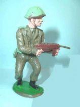Crescent Toy - WW2 - Infanterie Anglaise tireur mitraillette hanche