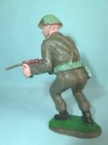 Crescent Toy - WW2 - Infanterie Anglaise tireur mitraillette hanche