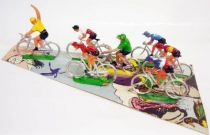 Cyclist (plastic) - Set of 7 racing cyclists
