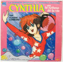 Cynthia ou le rythme de la vie - Disque 45Tours - Bande Originale Série Tv - Disques Ades 1988