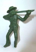 Davy Crockett - Figure by La Roche aux Fées - Series 1 - Patriot Firing rifle standing