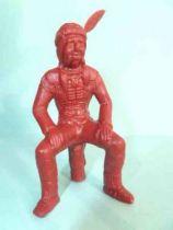 Davy Crockett - Figurine La Roche aux Fées - Série 2 - Indien Assis