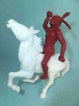 Davy Crockett - Figurine La Roche aux Fées - Série 2 - Indien Cavalier avec cheval