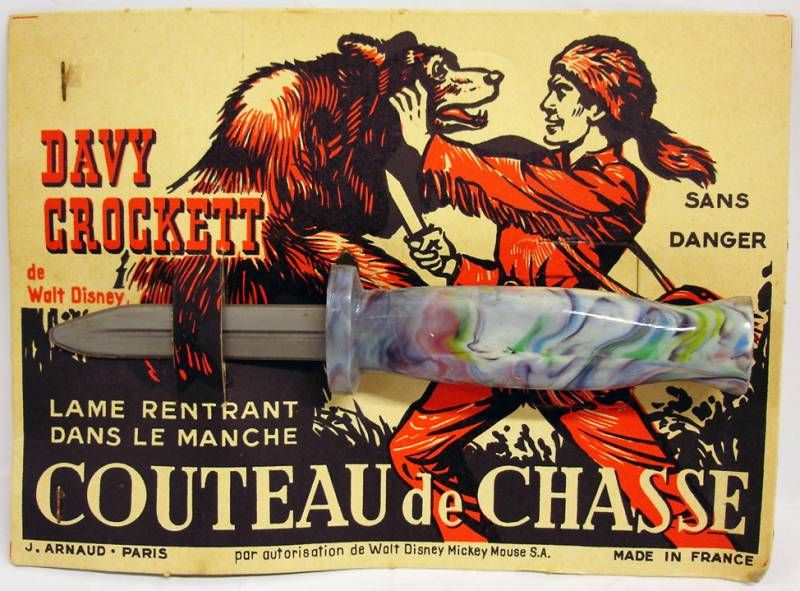 Davy Crockett - Hunting knife toy - J. Arnaud Paris