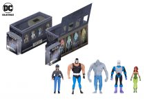 DC Collectibles - Batman The Animated Series - GCPD Rogues Gallery pack : Bane, Killer Croc, Mr.Freeze, Poison Ivy, R.Montoya