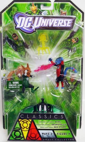 DC Universe - Green Lantern Classics Wave 2 - Green Lantern B\\\'dg, Sinestro Corps Despotellis, Red Lantern Dex-Starr