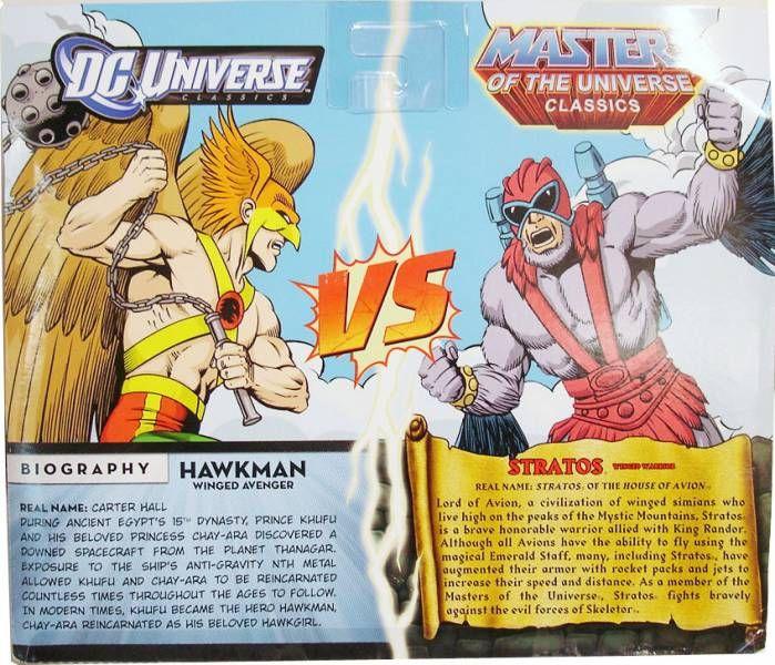 DC Universe vs. MOTU Classics - Hawkman & Stratos