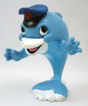 Delfy et ses amis - Figurine PVC Comics Spain - Delfy le dauphin (nez blanc)