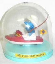 Die-Cast vehicule Guisval (Ref 2005) Mint in Box Smurf red boat
