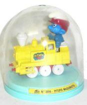 Die-Cast vehicule Guisval (Ref 2006) Smurf yellow locomotive (Mint in Box)