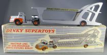 Dinky SuperToys 894 Unic Tractor & Boilot Cars Trailer Box