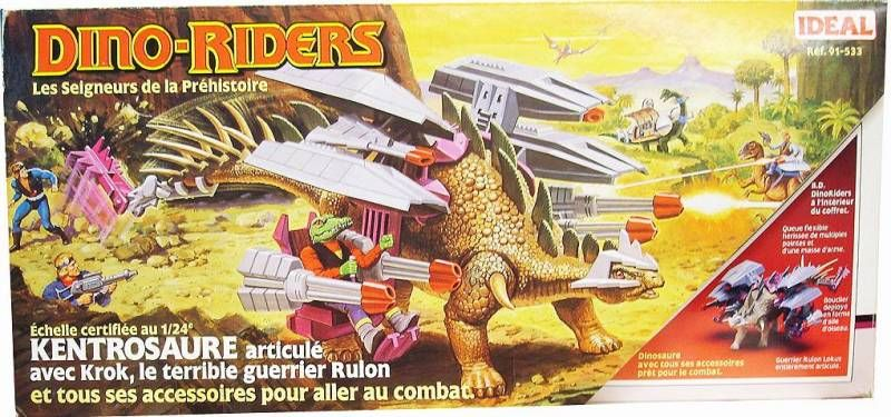 Dino Riders - Kentrosaurus with Krok - Ideal France