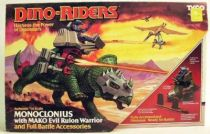 Dino Riders - Monoclonius with Mako - Tyco USA