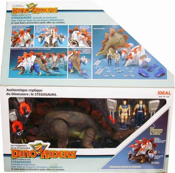 Dino Riders - Stegosaurus with Tark & Vega - Ideal France