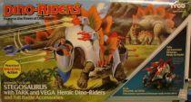 Dino Riders - Stegosaurus with Tark & Vega - Tyco USA