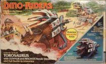 Dino Riders - Torosaurus with Gunnur & Magnus - Tyco USA