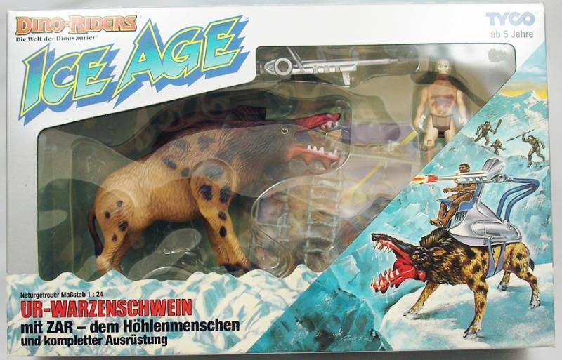 Dino Riders Ice Age - Killer Warthog with Zar - Tyco Germany