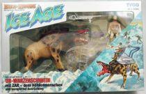 Dino Riders Ice Age - Killer Warthog with Zar - Tyco Germany