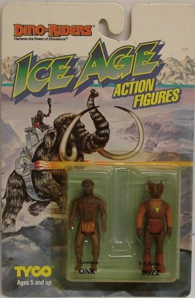 Dino Riders Ice Age - Onk & Buzz - Tyco