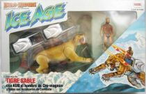 Dino Riders Ice Age - Sabretooth Tiger with Kub - Comansi Spain