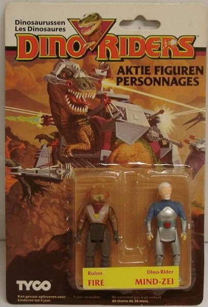 Dino Riders Series 1 - Fire & Mind-Zei - Tyco